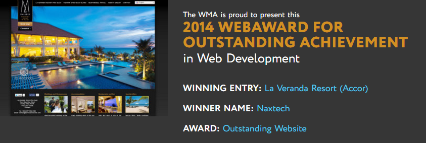 Award for website development sales
