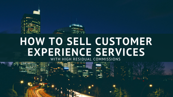 How to sell customer experience services