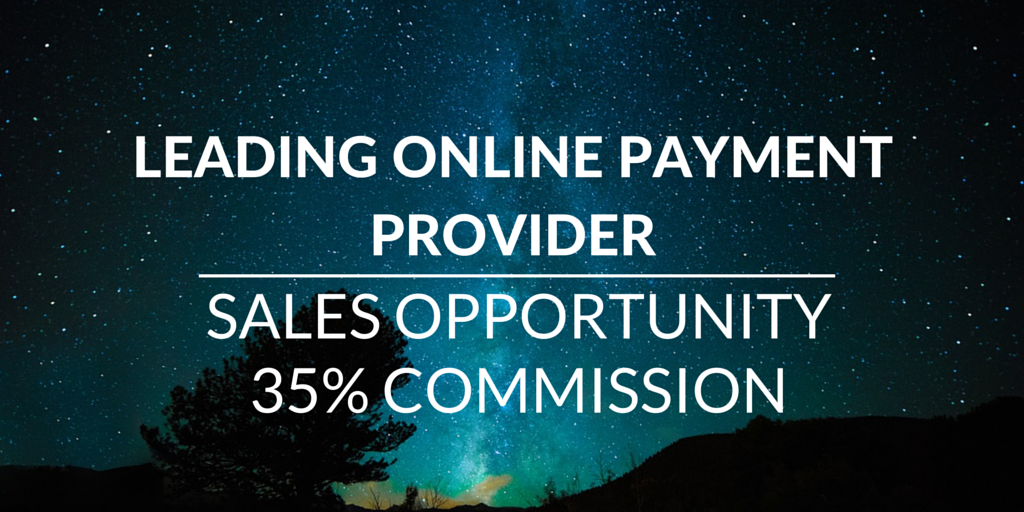 online payment provider freelance sales job