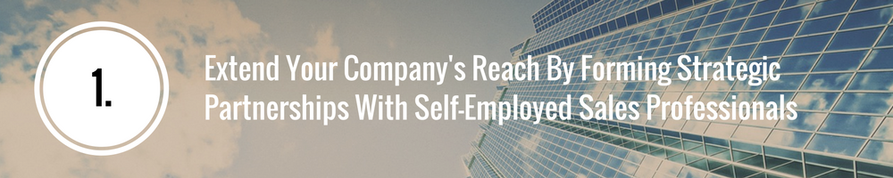 strategic partnerships with self-employed sales reps